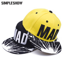 Cool! Snapback Cap Kids Girls Letters Patterns Children Baseball Cap Hip Hop Hat For Boys Sun Summer Hat Free shipping(China)
