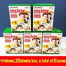 Echtes 100 blatt hochwertigen original fujifilm instax mini 8 film für 7 s 25 50 s polaroid sofortbildkamera mini film weiß edage