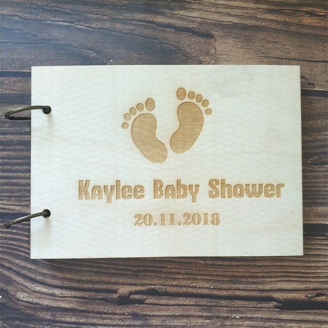 Personalized Baby Shower Guest Book Rustic Baby Shower Guestbook