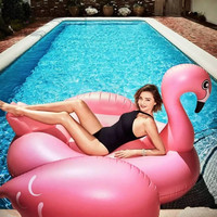 75Inch Inflatable Flamingo Giant Pool Float for Adult Pool Toys Water Party Summer Ride On Swimming Ring Gonflable Piscina Boias