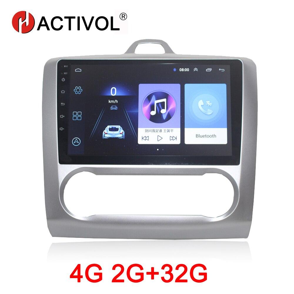 HACTIVOL 2G + 32G Android 8.1 Autoradio pour Ford Focus 2 S-Max S MAX 2007 -2011 lecteur dvd de voiture de voiture accessoire 4G multimédia lecteur