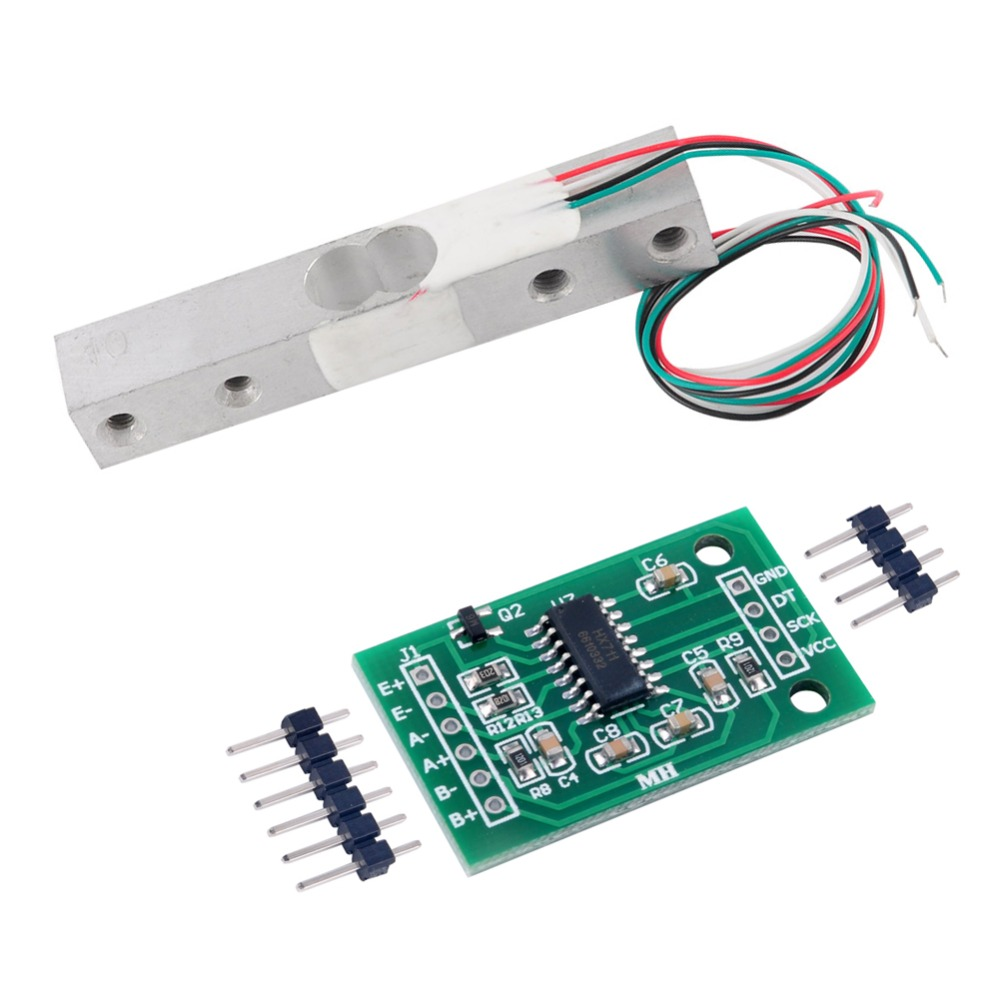 цена на RCmall HX711 Weight Sensor AD Module with 3KG/2KG/1KG/20KG/10KG/5KG/ Scale Load Cell Weight Weighing Sensor FZ0728