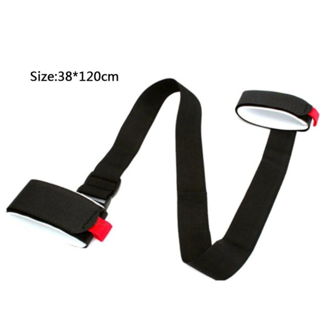 Nylon Skiing Bags Adjustable Skiing Pole Shoulder Hand Carrier Lash Handle Straps Porter Hook Loop Protecting For Ski Snowboard