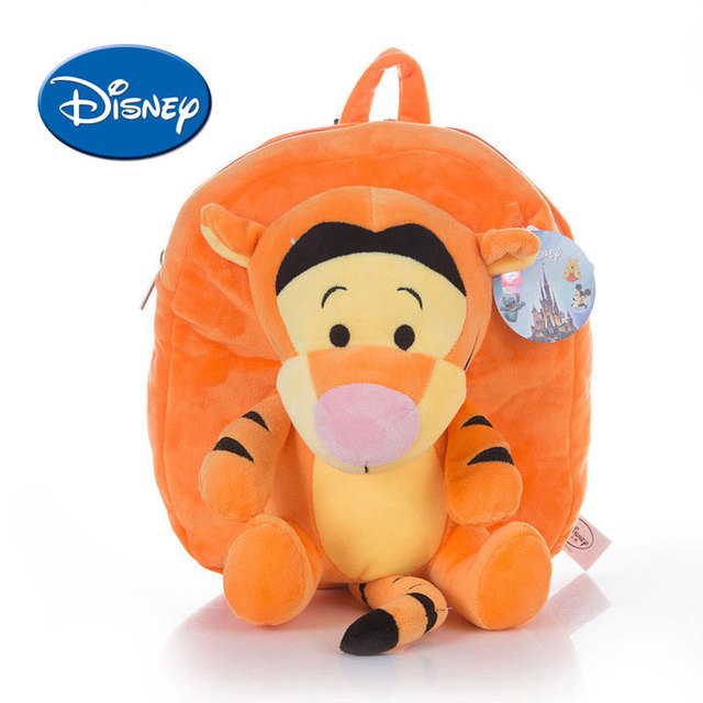 3e1e47d9d01 Disney Winnie The Pooh Lilo Piglet Cartoon Schoolbag Backpack for Kids Cute  Soft Plush Safe PP Cotton Stuffed Toy mochila disney