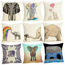 New Cushion Cover Home&Car Decor Pillowcase Elephant Pillows Home Decorative Housse De Coussin