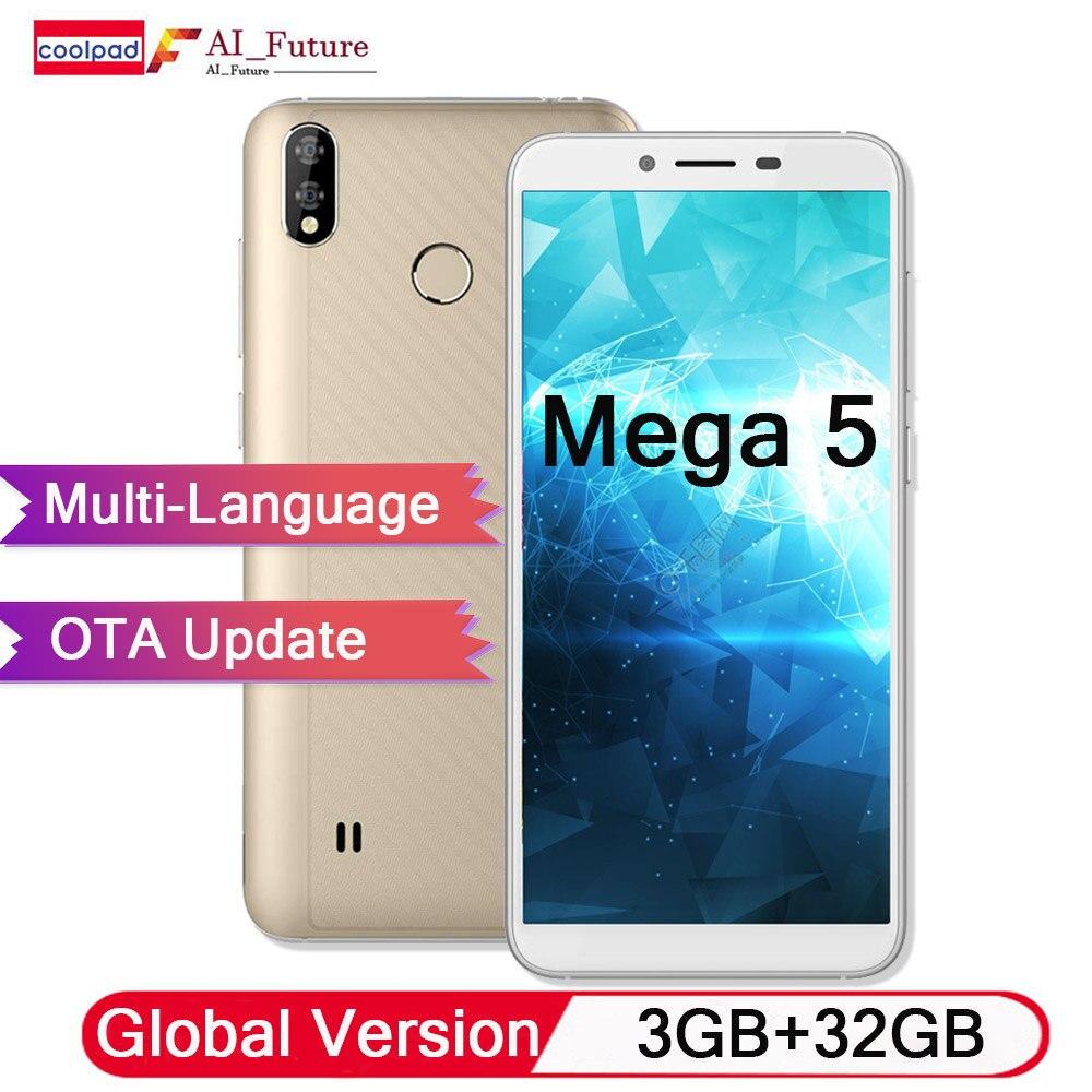 Global Version Original Coolpad Mega 5 Mobile Phone 3GB RAM 32GB ROM 3000mah Battery 5 7