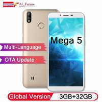 Globale Version Original Coolpad Mega 5 Handy 3 GB RAM 32 GB ROM 3000 mah Batterie 5,7 ''HD dual Hinten Kameras Android Oreo 8,1