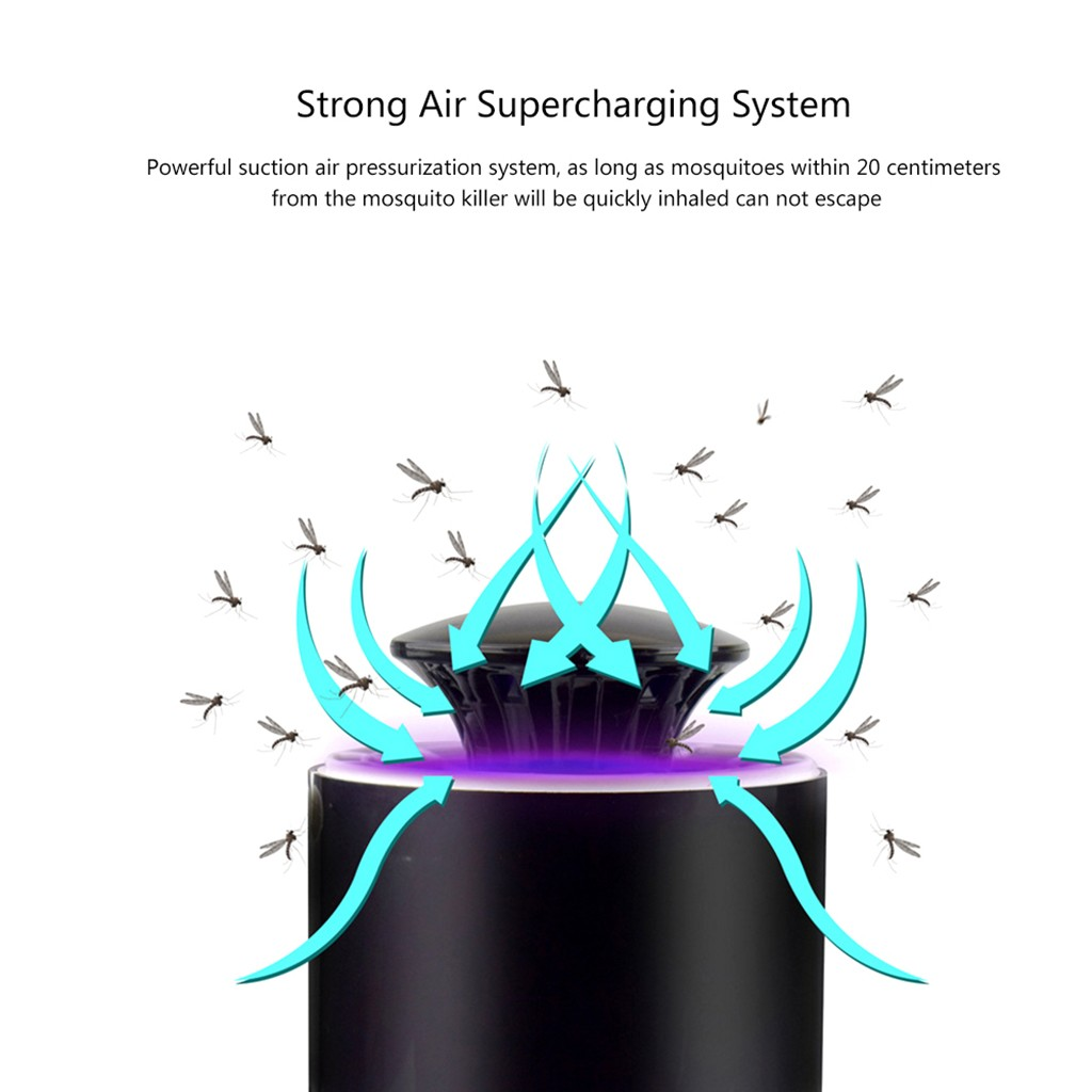Image 3 - anti mosquito night light anti mosquito insect trap Mosquito Killer Light 5W USB Smart Optically Controlled Insect Killing Lamp-in Repellents from Home & Garden