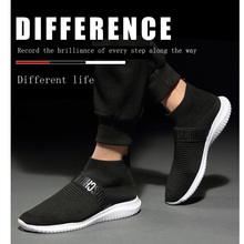 HEBENDUO  shoes menLeisure Shoes Flying Weaving 2019 New Mesh Socks Mens Breathable Spring and Summer Style