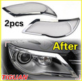 Car Cover Front Lamp Cover Headlight Cover Trim For Volkswagen Tiguan 2010 2011 2012 Abs Chrome 2pcs Per Set