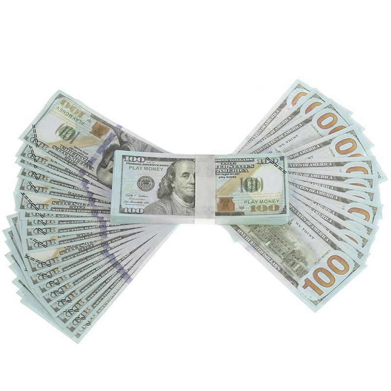 100 Pcs Usd Paper Dollar Bills Fake Currency Money Note Banknote Gift Usa