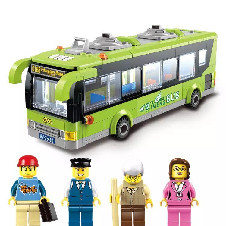 Models Building Toy 1121 City Bus Station Bricks Toys 418pcs
