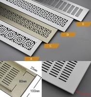 Rendijas de ventilación de aluminio ventilador rejilla aire acondicionado armario Zapatero