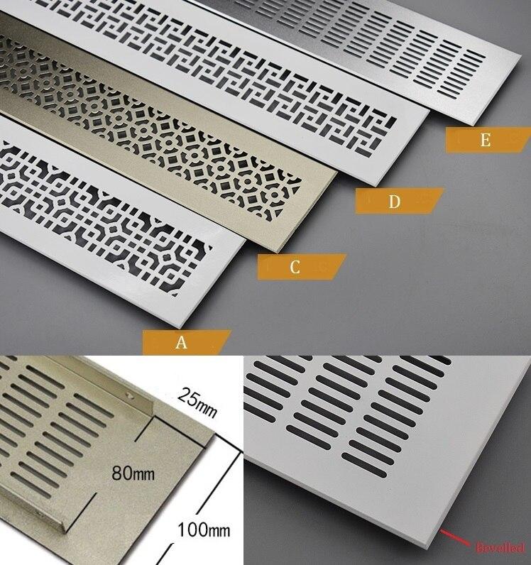 Aluminum Air Vent Ventilator Grille Air Conditioner Closet Shoe Cabinet