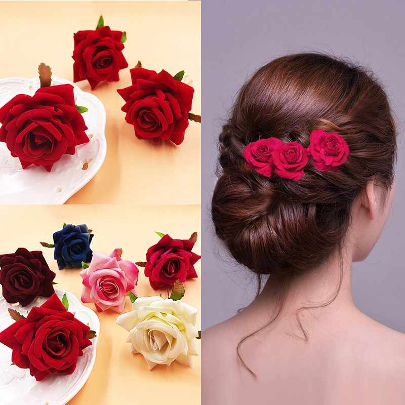 2018 Rushed Promotion Plant 1pc Popular Hairpin Brides Hair Pins Clips Combs Bridesmaid Cloth Flower Jewelry Accessori
