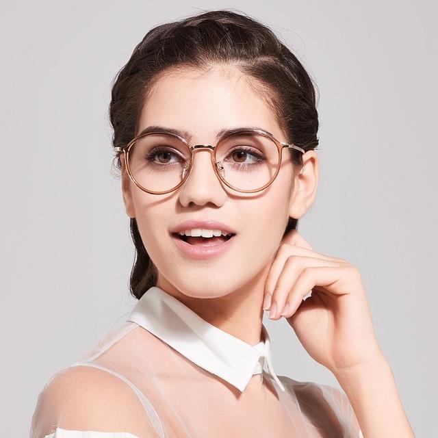 865be58abff Donna Women Fashion Reading Eyeglasses Optical Glasses Frames Glasses Women  New Round Frame Clear Lens Ultra Light Frame DN01
