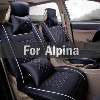 A Set Car Seat Covers Universal Fit With Artificial Leather,Cushion Pad Mat For Alpina B3 B7 D5 Roadster D3 Xd3 B4 B6 B5