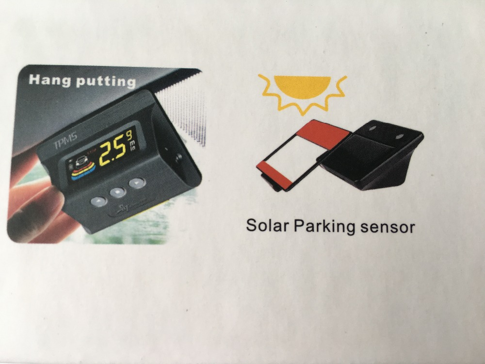 4 sensors Car styling wireless parking sensors Solar charging LCD display car detector parking assistance parking