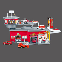 3D Puzzles Kids Fire Fighting Truck Model Educational Toys For Children DIY Wheels Car Fire Rescue Firefighters oyuncak