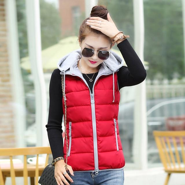 2016 autumn winter design down cotton-padded short jacket vest women's slim 12 colors M-3XL cute waistcoat Cheap wholesale 40