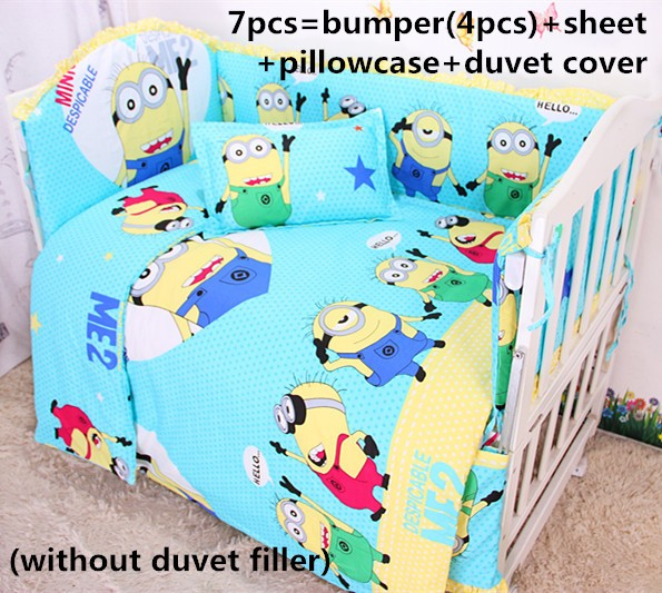 ФОТО Discount! 6/7pcs  Baby bedding sets unisex bumper,bed sheets,100% cotton baby crib set,120*60/120*70cm