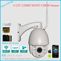 200W SONY COMS WIFI p2p outdoor indoor Pan/Tilt 4X optical Zoom ip ptz camera ONVIF WIFI PTZ Camera Built-in 32G TF card