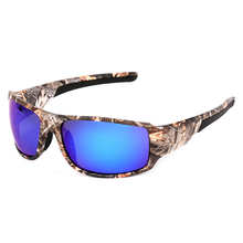 Камуфляж поляризованных солнцезащитных очков Для мужчин камуфляж Рыбалка очки с УФ-защитой Велоспорт очки кемпинговые очки gafas-де-сол hombres. A10