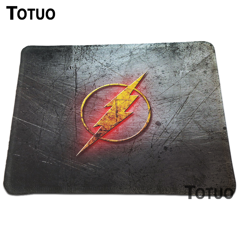 New High quality Durable Gaming Flash man logo Optical Computer Mouse Pad Soft Silicone Anti-slip Mouse Mat Lock Edge Pad