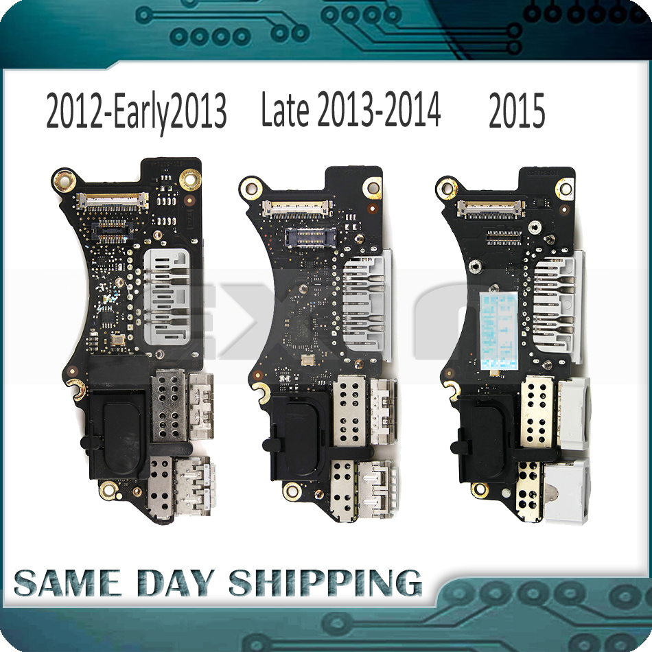 Original Laptop A1398 I/O USB HDMI SD Card Reader BOARD For MacBook Pro Retina 15