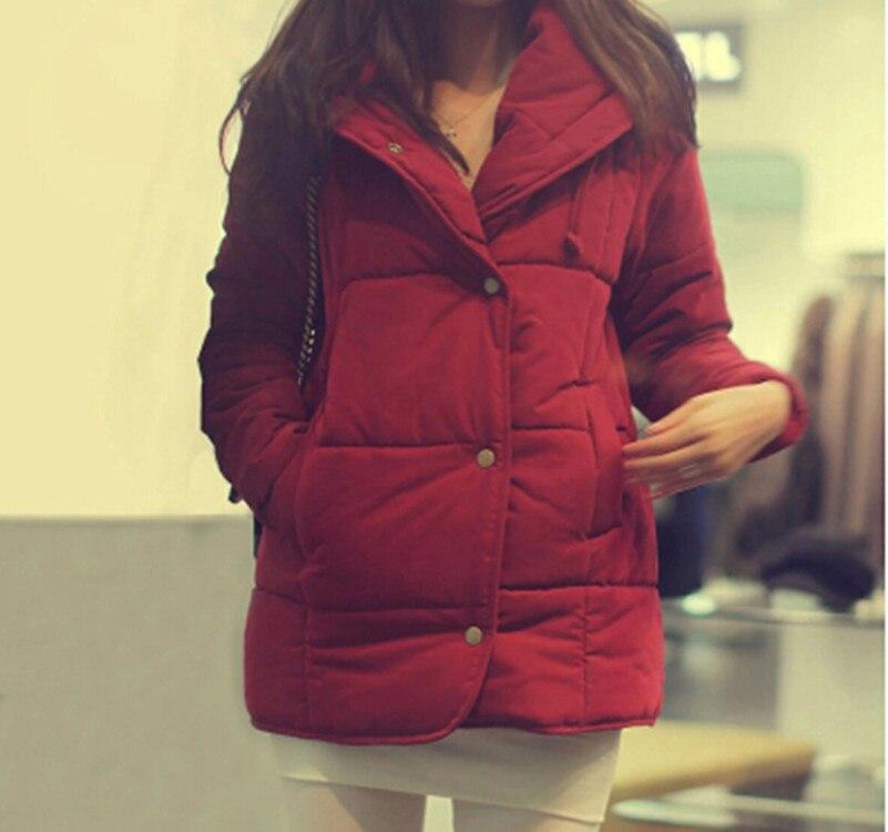 ФОТО 2016  Women Coat 1950s Warm in winter Winter Female Down Jacket Women Parkas Casual Jackets Inverno Parka Wadded plus size
