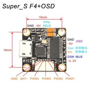 Image 5 - Super_S F4 flight controller board integrated OSD Built in 5V BEC for Indoor Brushless FPV Racer Drone Quadcopter