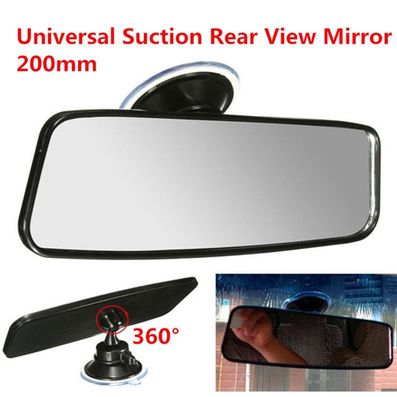 200mm Universal Suction Rear View Mirror Car Interior Mirrors Flat Inside Adjustable Rearview Mirror Glass Espejos Retrovisores