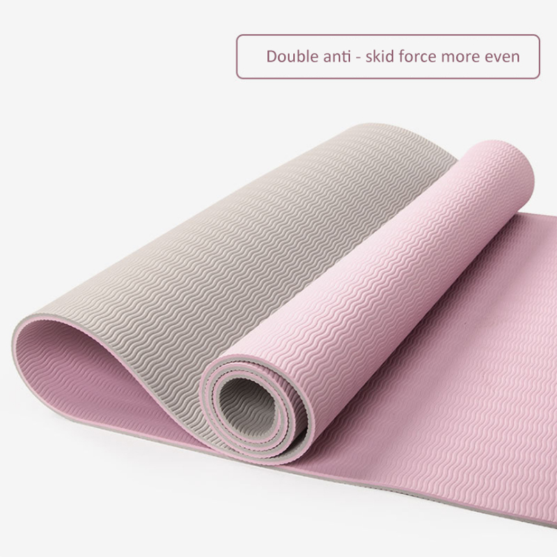 TPE Yoga Mat Fitness Mat Widened Thickened Lengthened Beginners Tasteless Non-slip Yoga Mat High-density Dance Mat