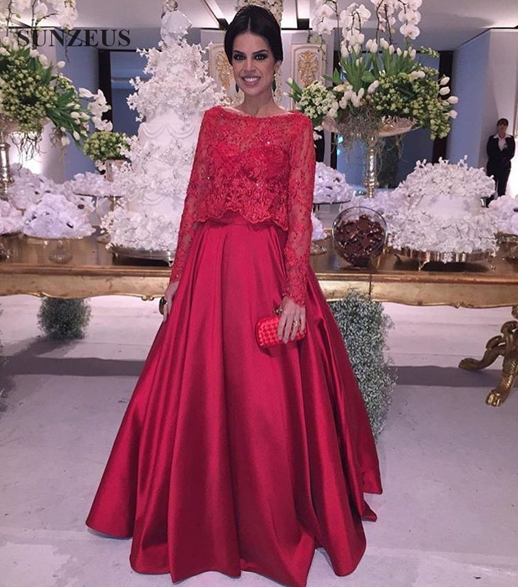 Popular Red Evening Gowns with Sleeves-Buy Cheap Red Evening Gowns ...