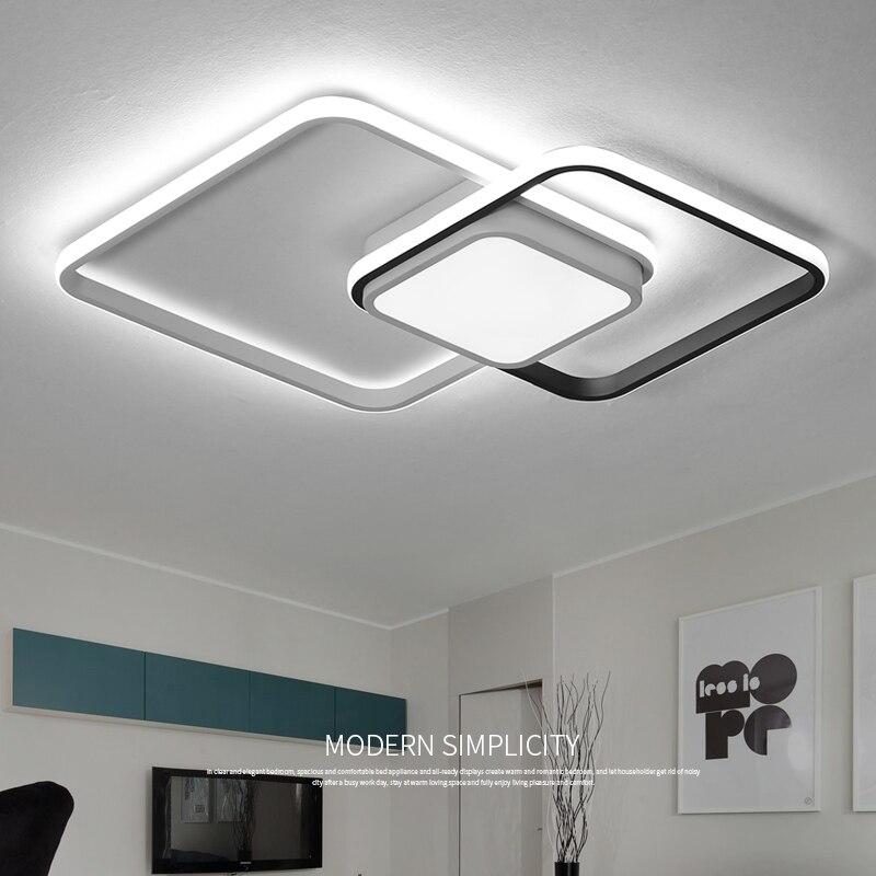 LICAN Chambre salon Plafonniers Moderne LED lampe plafond avize Moderne LED Plafonniers lampe avec télécommande