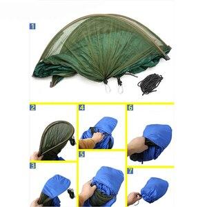 Image 5 - Multiuse נייד ערסל קמפינג טיולים נסיעות ערסל עם כילה דברים שק unnel צורת נדנדות מיטת אוהל שימוש חיצוני