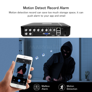 Image 5 - 4 Channel AHD Mini DVR Video Recorder Surveillance Security CCTV NVR 720P/8CH 1080N Hybrid DVR For Analog AHD ONVIF IpCam WiFi