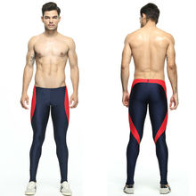Men's Patchwork Long Tight Pants Elastic Skinny Mallas Hombre Running Mens Compression Running Tights Vetement Running Homme mallas mujer wp030 running tights