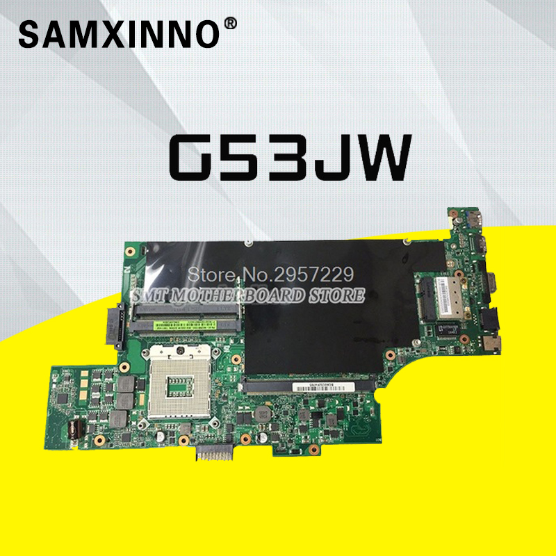 G53JW Mainboad For Asus G53JW Laptop Motherboard 4 memory slots 60-N02MB1300-B04 N60-N02MB1500-B07 Tested Well and Motherboard