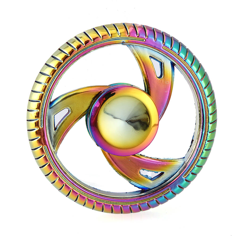 2018 Rainbow Circle Round Hot sale Wheels EDC Hand Spinner Fidget Spinner Toys Anti Stress Gyro Stress Relief Toy