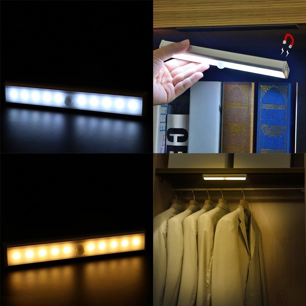 Led outside night light - 2 Pcs Led Wireless Motion Sensor Light 10 Led Night Light Porch Wall Lamp Lighting Battery Powered Closet Stairs Bedroom Cabinet