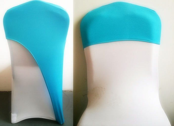 Aqua Colour Lycra Chair Covers Caps Universal For Wedding Decoration  Spandex Party Chair Cover Fit All Chairs Wholesale In Sashes From Home U0026  Garden On ...