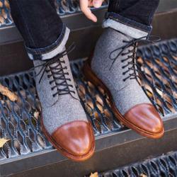 2019 primavera nova chegada moda ankle boots homens botas de motocicleta masculino couro do plutônio rendas-up sapatos de moda masculina sapatos britânicos p20