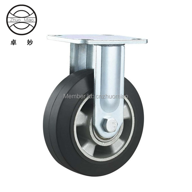 4 pcs New style 8 inch Aluminum Core Elastic Ultra quiet Rubber Caster With Double fixed caster4 pcs New style 8 inch Aluminum Core Elastic Ultra quiet Rubber Caster With Double fixed caster