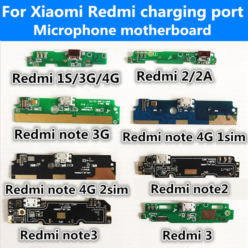 Micro usb plug port charge board & Microphone For Xiaomi ...