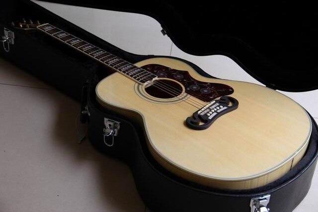 Пользовательские J0200 акустической гитары разрезе J0200 43 # клен акустической гитары цена не включает в себя на колесиках SJ200 110918