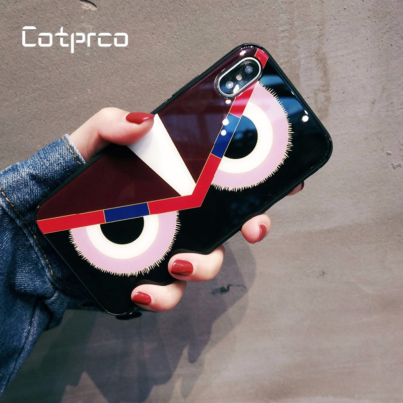 COTPRCO Fashion Owl Case for iPhone 7 Plus 6s X 10 8 Multifunctional Trend Luxury Cover 6 Back