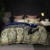 Роскошный комплект постельного белья, наволочки, постельное белье, цветочный набор постельного белья, пододеяльник из 100% хлопка, простыня,