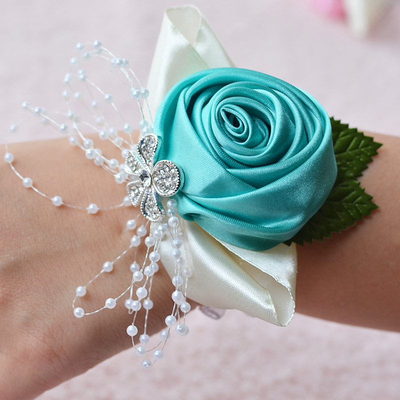 Quality Wrist Corsage Bridesmaid Sisters Hand flowers Artificial Bride Flowers For Wedding Dancing Party Decor Bridal Prom