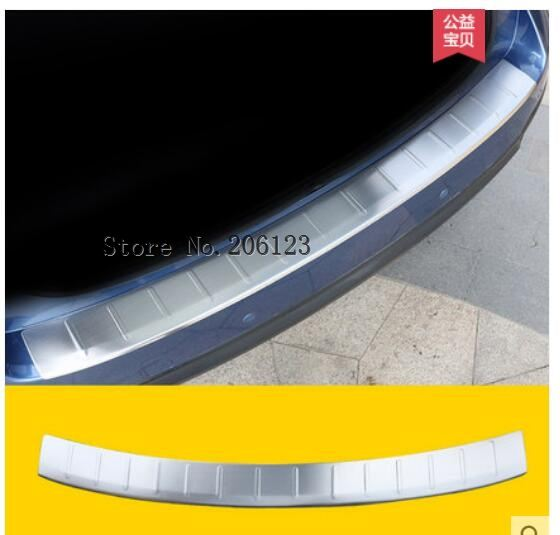 stainless steel rear bumper guard guards who sill trim pattern car styling For 2013 2014 2015 2016 2017 2018 Subaru Forester